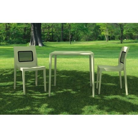 Ogrodowe Krzesło Lucca - T Chair z tworzywa Siesta. Kolor biały