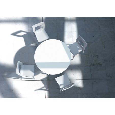 Stylowy Stół okrągły Maya 120 Biały Siesta do kuchni, jadalni i salonu.