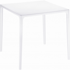 Mango 72x72 white square garden table Siesta