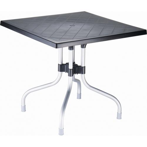 Stylowy Stół kwadratowy Forza 80 Siesta do kuchni. Kolor czarny
