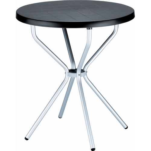 Elfo 70 black round garden table Siesta
