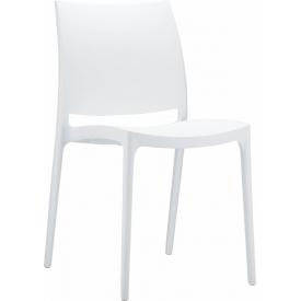 Designerskie Krzesło plastikowe Maya Białe Siesta do kuchni i jadalni.
