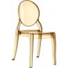Designerskie Krzesło z tworzywa Elizabeth Bursztynowy przeźroczysty Siesta do jadalni, kuchni i salonu.