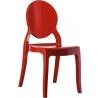 Designerskie Krzesło z tworzywa Elizabeth Czerwone Siesta do kuchni i jadalni.