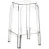 Fox 65 transparent modern bar stool Siesta