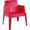 Ogrodowe Krzesło z podłokietnikami Box Armchair Siesta. Kolor biały