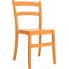 Stylowe Krzesło ogrodowe plastikowe Tiffany Pomarańczowe Siesta na taras i do restuaracji.
