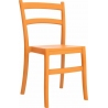 Tiffany orange plastic garden chair Siesta