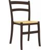 Stylowe Krzesło ogrodowe plastikowe Tiffany S Brązowe Siesta na taras i do restuaracji.