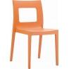 Stylowe Krzesło ogrodowe plastikowe Lucca Chair Pomarańczowe Siesta na taras i do restuaracji.