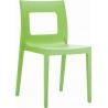 Stylowe Krzesło ogrodowe plastikowe Lucca Chair Zielone Siesta na taras i do restuaracji.