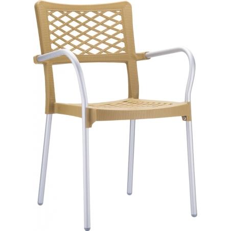 Bella beige garden chair with armrests Siesta