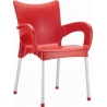 Romeo red garden chair with armrests Siesta
