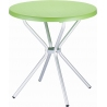 Elfo 70 green round garden table Siesta