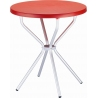 Elfo 70 red round garden table Siesta