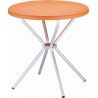 Elfo 70 orange round garden table Siesta