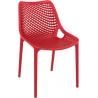 Designerskie Krzesło Air z tworzywa Siesta do jadalni. Kolor czarny