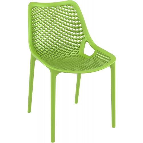 Stylowe Krzesło ażurowe Air Zielone Siesta do salonu i jadalni.