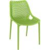 Air green openwork modern chair Siesta