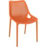 Air orange openwork modern chair Siesta
