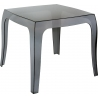 Queen 51x51 black transparent outdoor coffee table Siesta