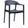 Designerskie Krzesło z podłokietnikami Carmen Armchair Black Czarny z czarnym przeźroczystym Siesta do jadalni, kuchni i salonu.