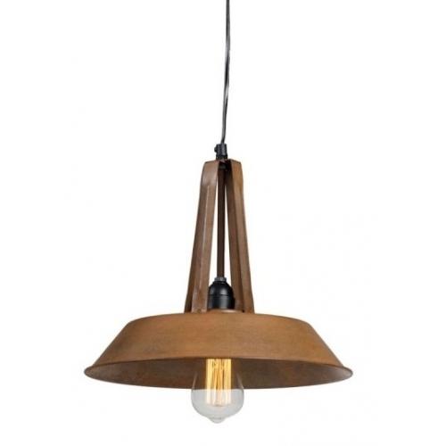 Industrialna Lampa wisząca Tarta 32 do salonu. Kolor: rdzawa powłoka