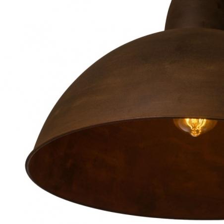 Industrialna Lampa wisząca Top Gauge 48 do salonu. Kolor: rdzawa powłoka w cenie 569
